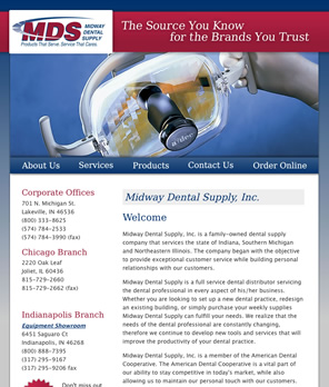Midway Dental Supply screenshot